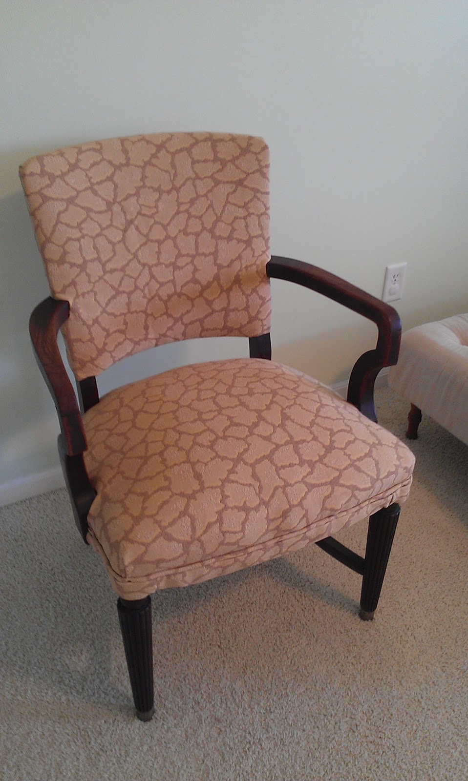 Thrifty Treasures Upholstering a chair