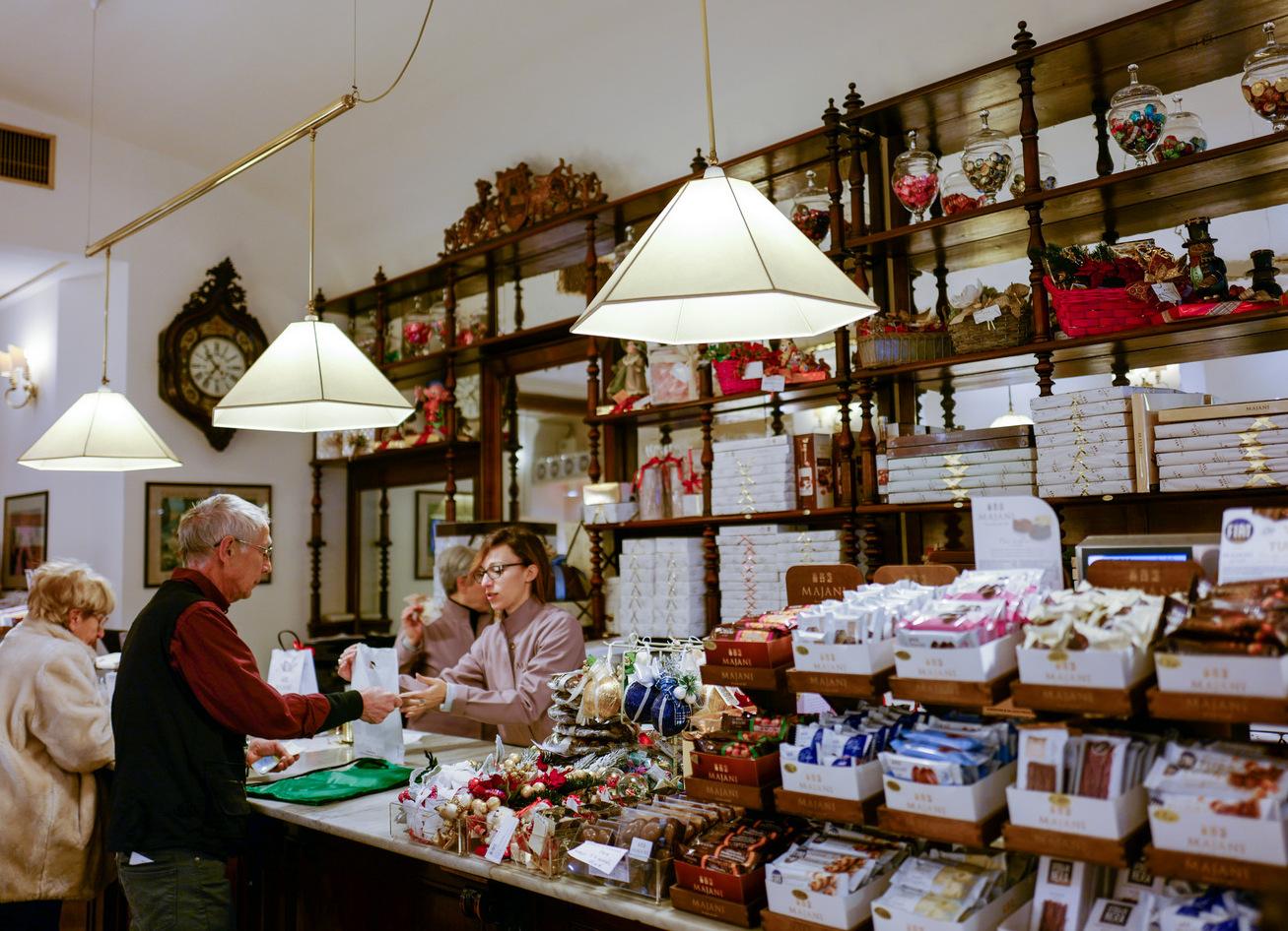 majani chocolates, paolo atti & cremeria funivia, bologna, italy