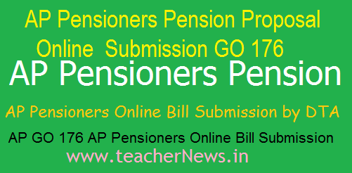 AP Pensioners Online Bill Submission G.O 176
