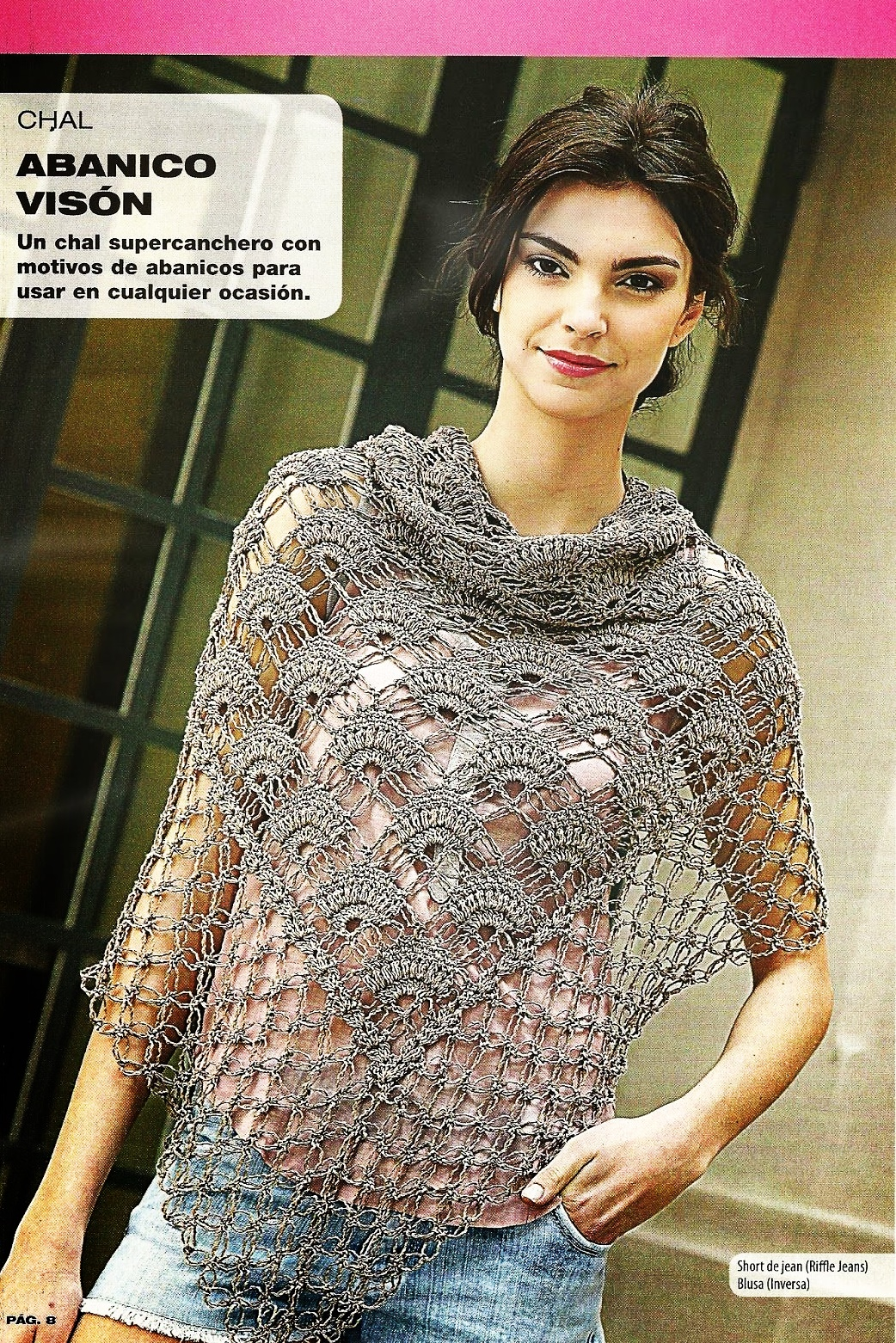 Chal Foulard punto abanicos crochet