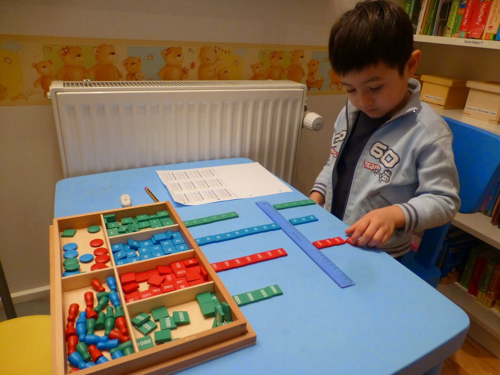 Montessori Dynamic Addition Worksheets
