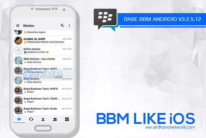 BBM LIKE iOS V3.2.5.12 - BBM MOD Android V3.2.5.12