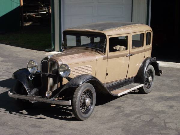 Barn Find, 1932 Willys Overland Sedan