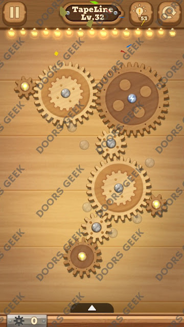 Fix it: Gear Puzzle [TapeLine] Level 32 Solution, Cheats, Walkthrough for Android, iPhone, iPad and iPod