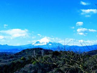 鎌倉トレイルから眺める富士山