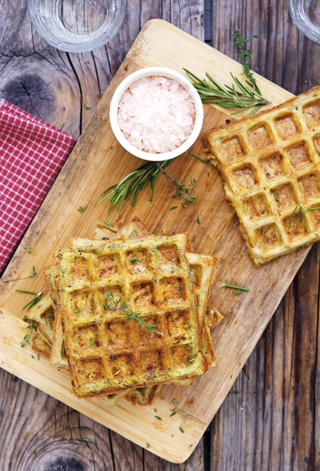 The Iron You: (Flourless) Herbed Potato Waffles