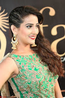 Manjusha in Beautiful Sleeveless Green Anarkali dress at IIFA Utsavam Awards 94.JPG