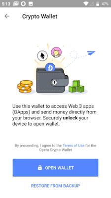 cara menggunakan crypto wallet browser Opera-gambar 3