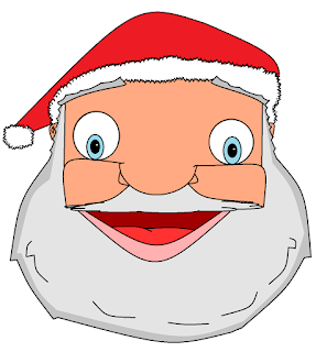 Doodle of the face of Santa