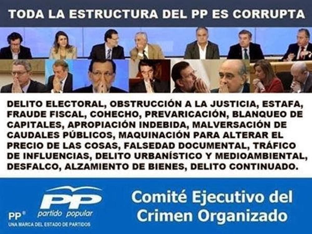 España es el único sitio del Mundo donde los corruptos estan beatificados y santificados en el poder