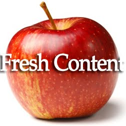 Apple with Fresh Content sign in front
