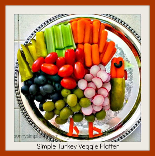 Thanksgiving, turkey craft, veggie tray