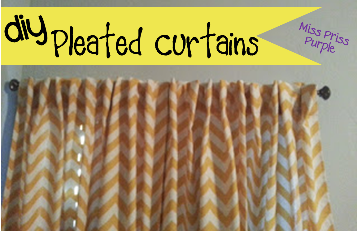 Miss Priss Purple: DIY Pleated Ribbon Curtains