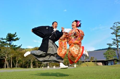 奈良で和装前撮りロケーション写真