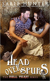 https://www.amazon.com/Head-Over-Spurs-Hell-Yeah-ebook/dp/B019PZTTMA/ref=sr_1_1?ie=UTF8&qid=1468967939&sr=8-1&keywords=head+over+spurs+sable+hunter#navbar