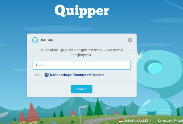 cara daftar murid di quipper