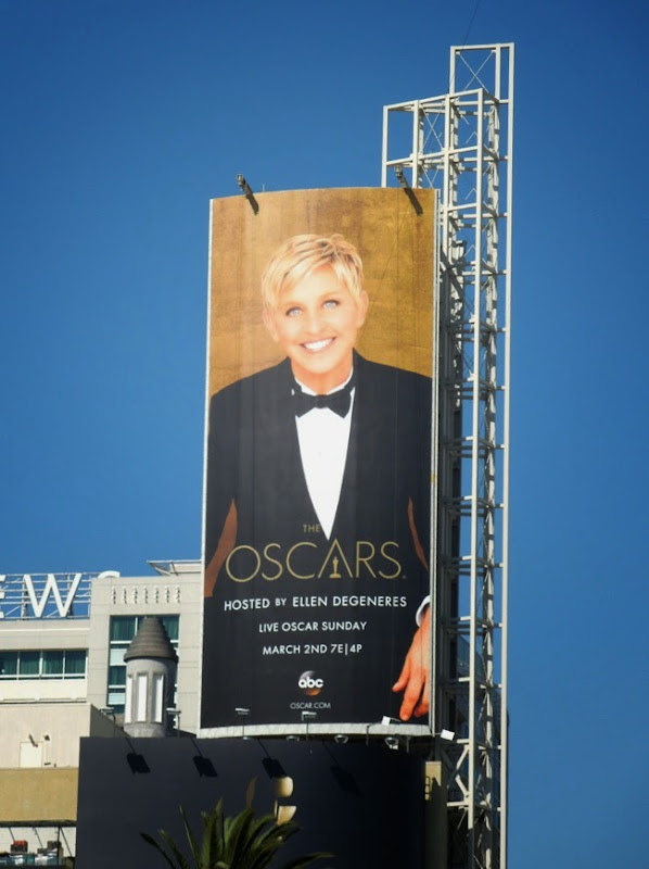 Ellen DeGeneres 86th Oscars billboard
