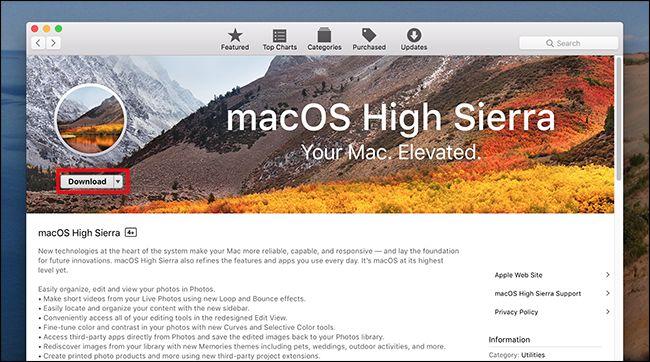 installare ultima versione MacOS
