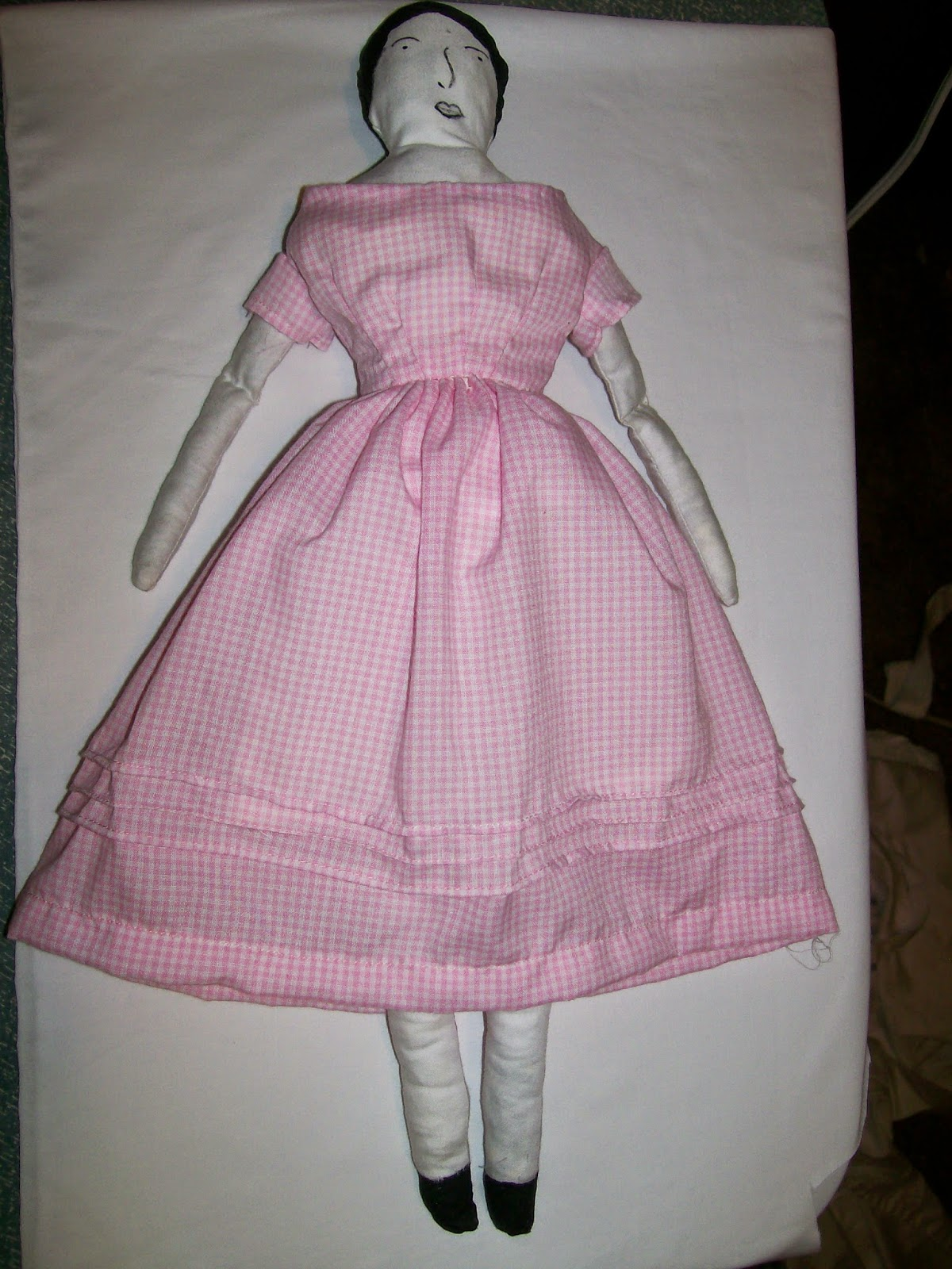 Historic Moments Pattern 400 Cloth Doll in pink dress
