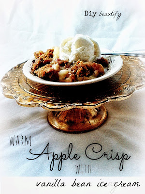 apple crisp recipe with vanilla ice cream