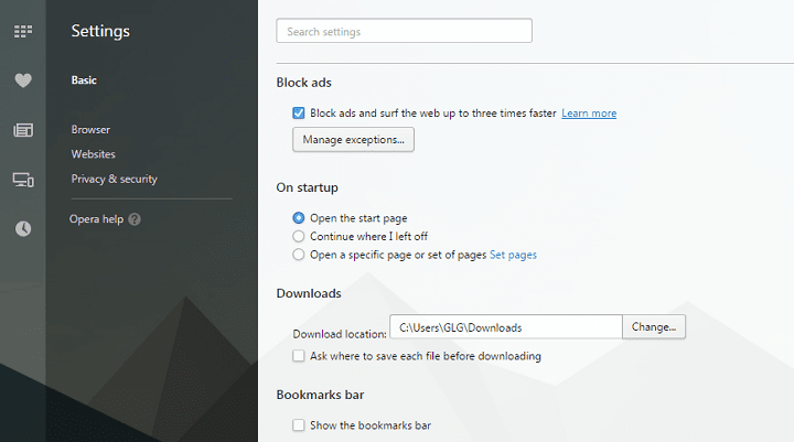 mengaktifkan fitur ad block di opera browser