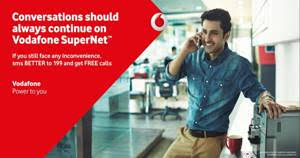 Vodafone Delights Bonanza Offers 10-minute talk time on Vodafone SuperNetTM- its best network ever