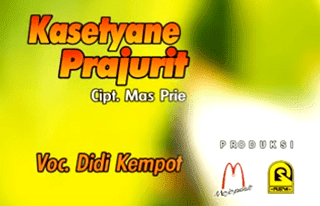 Lirik Lagu Kasetyane Prajurit - Didi Kempot