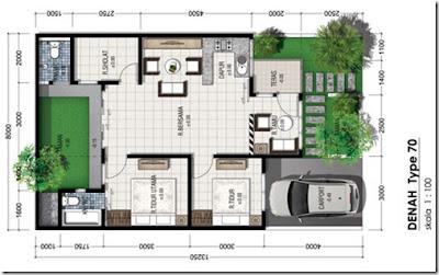 Desain Terbaru Rumah Minimalis Type 70 Yang Paling Nyaman Untuk Hunian 1