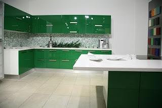 cocina verde pasto