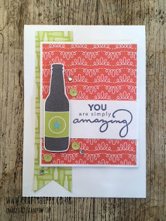 Try making this gorgeous card using the Bubbles & Fizz Designer Series Paper from Stampin' Up!