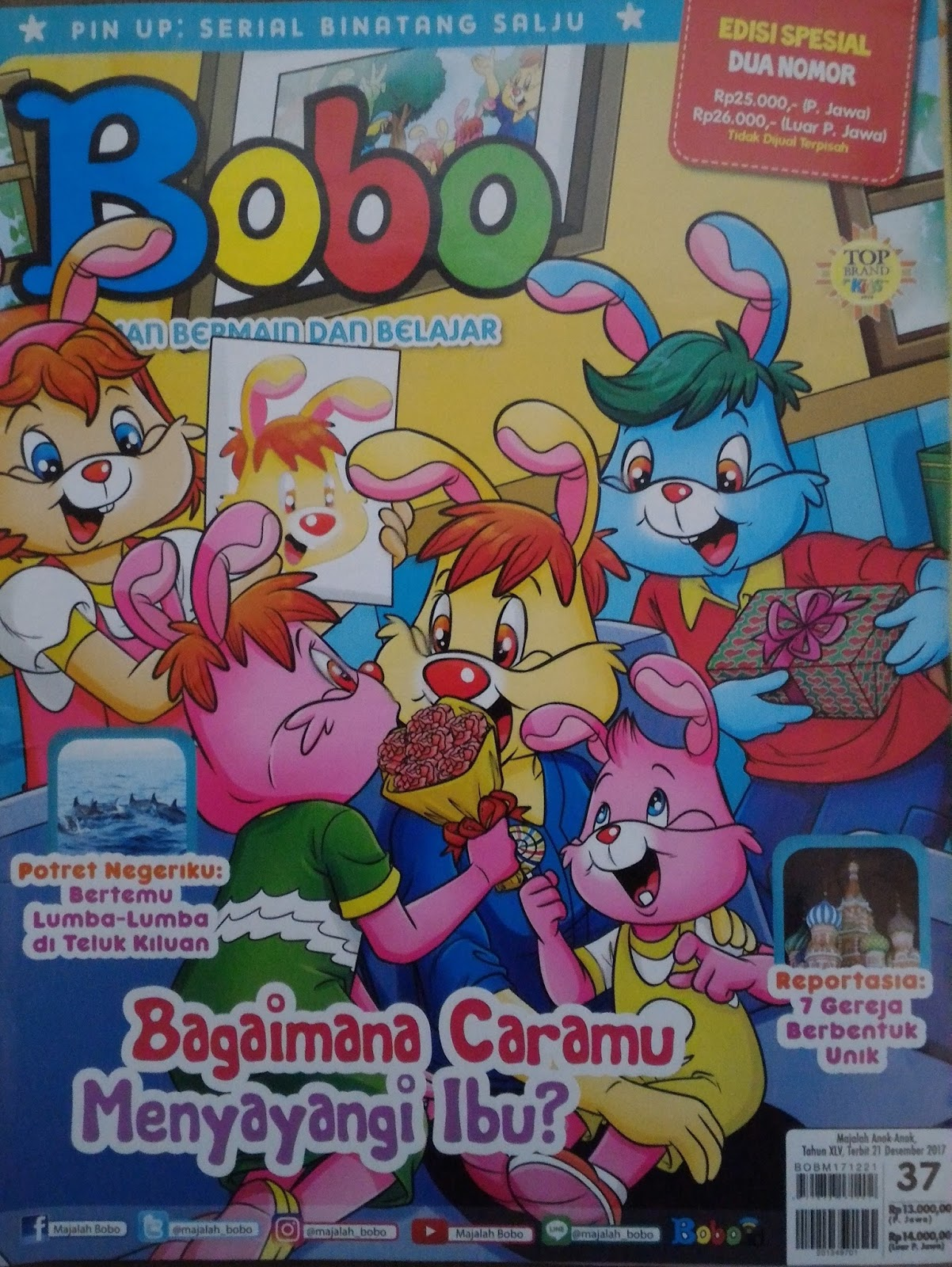 Majalah Bobo Edisi 37 tahun 2017