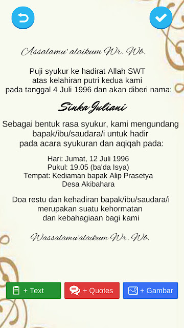 undangan aqiqah digital untuk sosial media
