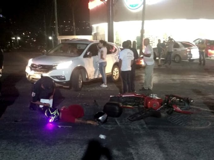 ¡Accidente deja dos heridos!