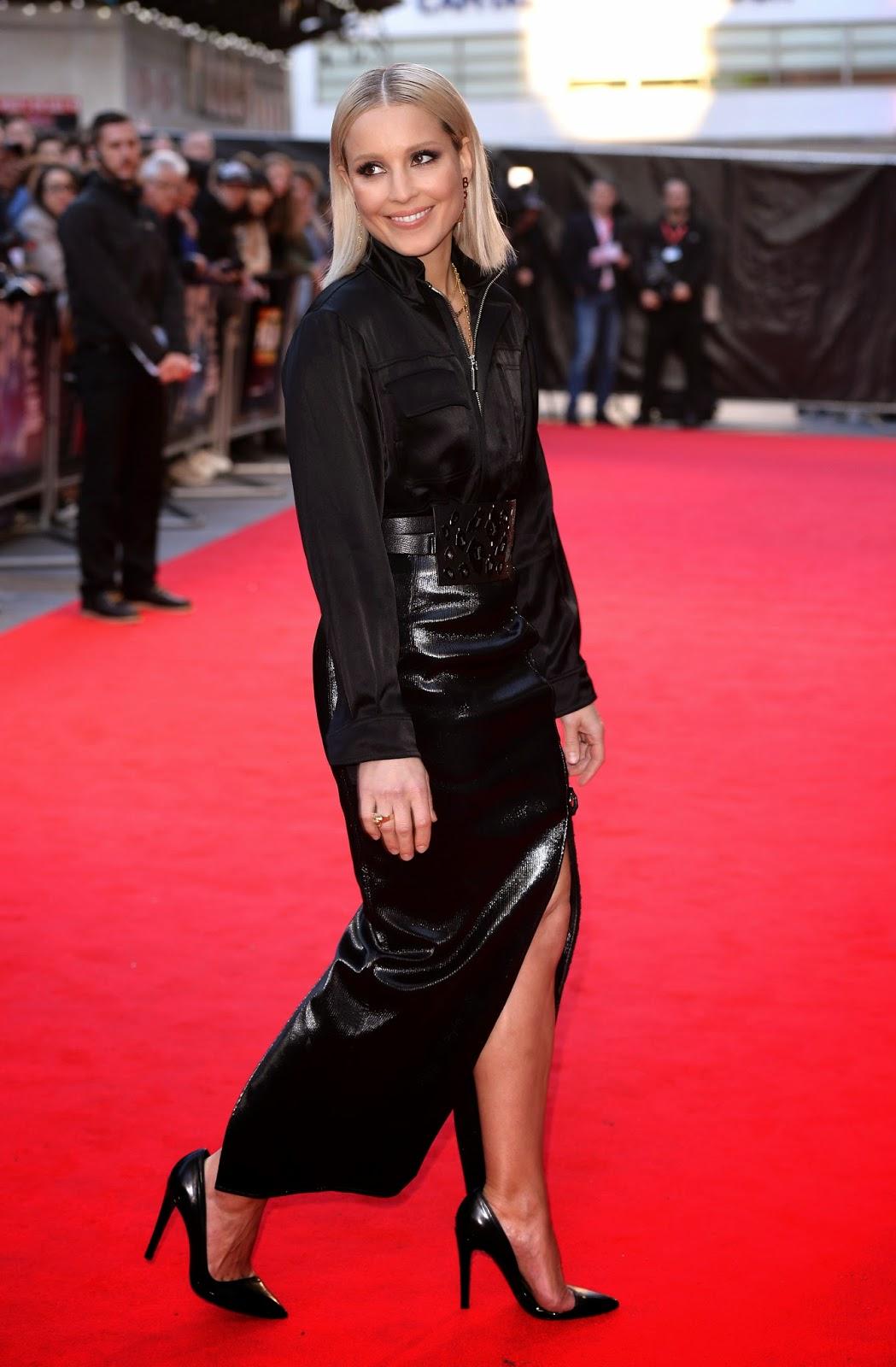 Noomi Rapace Black Satin Blouse Amp Leather Skirt Satin