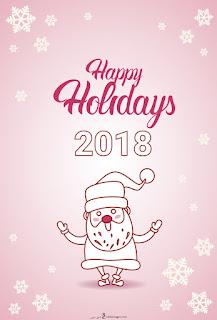 بابا نويل 2018 سنة ميلادية سعيدة