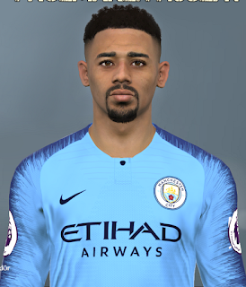 PES 2017 Faces Gabriel Jesus by Huseyn