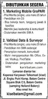Lowongan Kerja Koperasi Karyawan Telkomsel (KiSel)