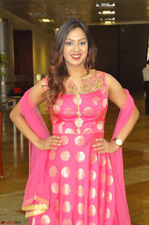 Sindhu Shivarama in Pink Ethnic Anarkali Dress 27.JPG