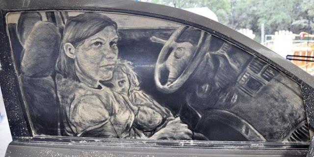 10 Lukisan Debu Di Mobil Yang Menakjubkan