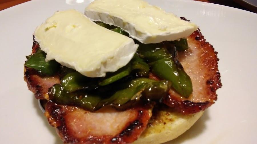 Receta de sandwich de lomo adobado, pimientos y berenjena