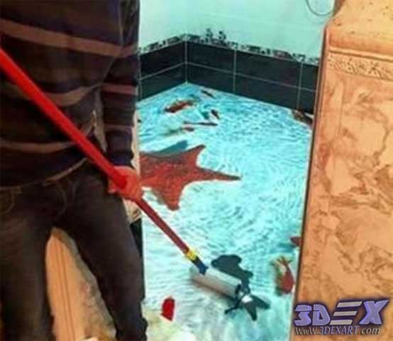 Easy ways to clean and maintain your 3d epoxy flooring for Floor 3d painting