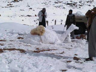 Cada uno hace los muñecos de nieve según sus tradiciones.