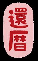 長寿祝いのイラスト文字(還暦)