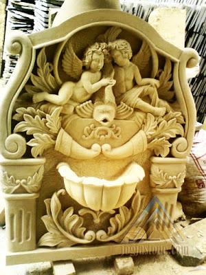 relief angel untuk air mancur taman