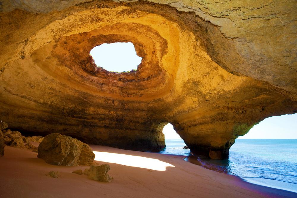 The World Most Beautiful Places Benagil Sea Cave Algarve Portugal