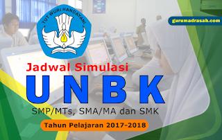 Puspendik UNBK Tahun 2018 Jadwal Simulasi 2