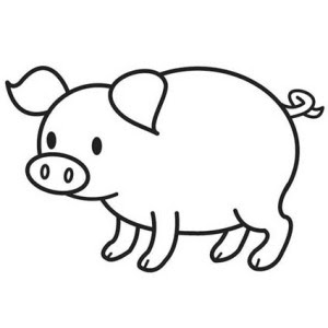 Cute Fat Baby Pig Coloring Pages