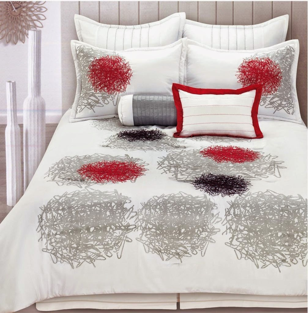 Red Black And White Bedroom Bedroom Decor Ideas For Small Rooms Neutral Color Bedroom Decor Philips Bedroom Lighting: Red White And Black Comforters & Bedding Sets: Bright