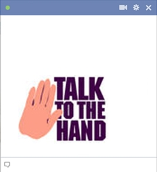 Talk to the hand emoticon