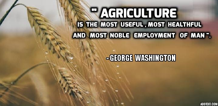 Farming Quotes Enchanting Best Agriculture Quotes  Agrowiki  Online Agriculture Library
